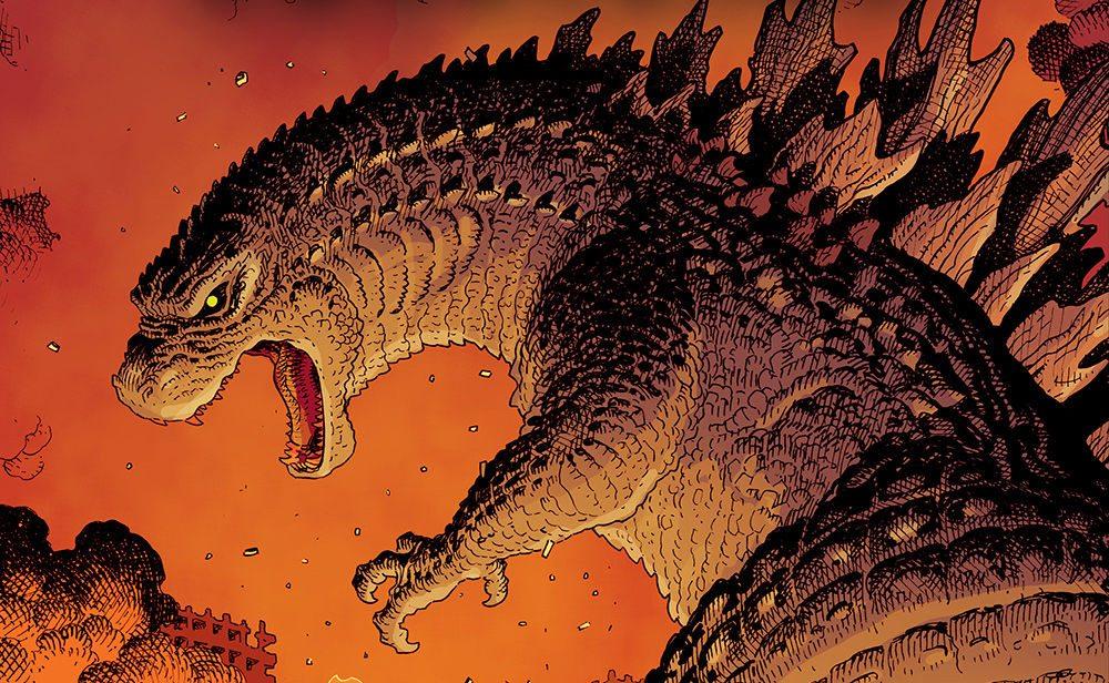 Godzilla w komiksowym kadrze