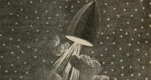 """Ilustracje Émile-Antoine Bayarda do """"Wokół Księżyca"""" Juliusza Verne'a"""