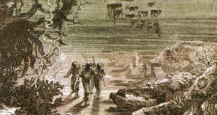 """Ilustracje Alphonse de Neuville'a do """"20 000 mil podmorskiej żeglugi"""" Juliusza Verne'a"""