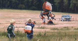 Nostalgiczne wizje światów sci-fi Simona Stalenhaga